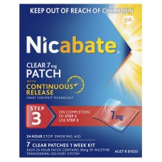 Nicabate Patch Clear 7mg 7 Pack
