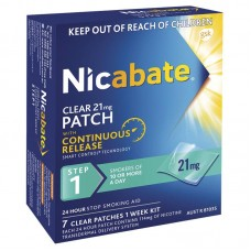 Nicabate Patch Clear 21mg 7 Pack